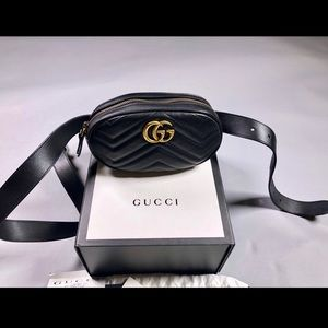 💯% Authentic GG Marmont Leather Belt Bag